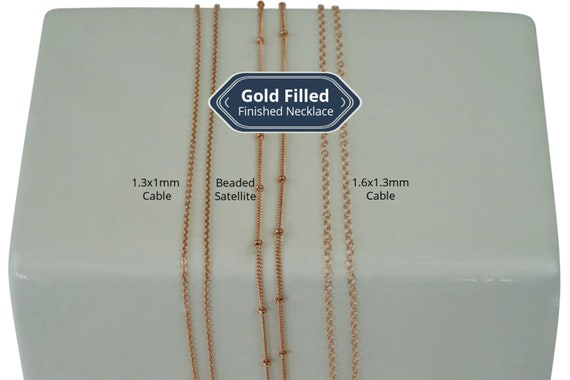 Blakely, June, River Necklace. Three Types. 14K Rose Gold Filled.