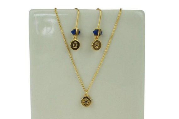 Brooke Pendant. 16K Gold Plated Brass and Cubic Zirconia.