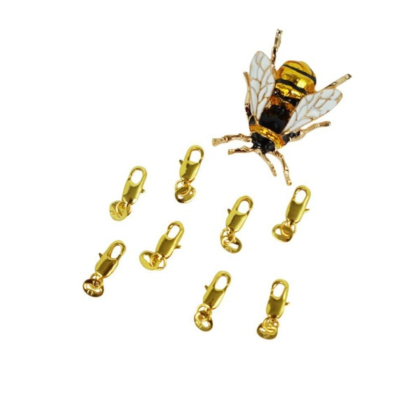 5 Annabelle Lobster Clasps. 18K Gold Filled.