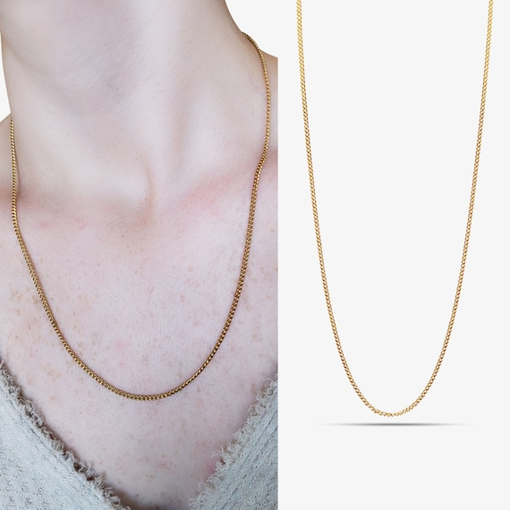 Emily Necklace. 24K Gold Plated.