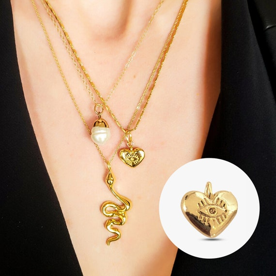 Ariana Charm. 24K Gold Plated Brass.