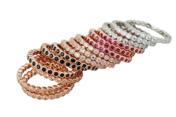 Kiana Stacker Rings. Three Sizes. Five Colors.