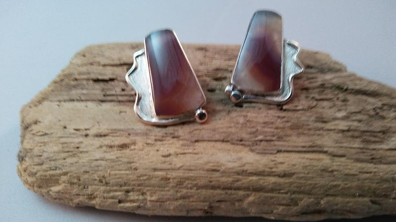 Laguna Agate Sterling Silver Post Earrings