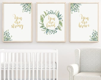 Nursery Quotes For Girl Room Wall Art Set Of 3 Nursery Wall Art Teen Room  Decor Print Kids Wall Decor Positive Art Print Typographic Quote