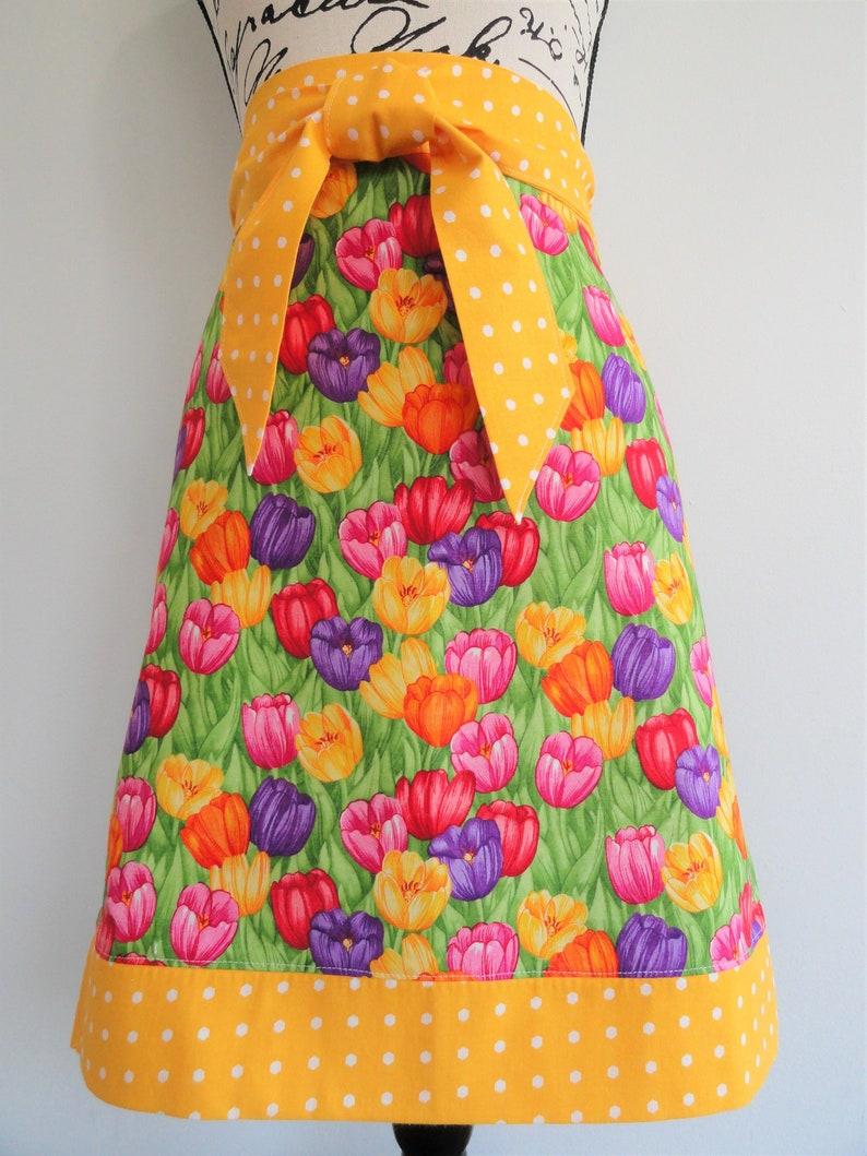 Retro Half Apron Floral Apron Vintage Style Apron Retro Apron Spring Flowers Baking Apron Pink Apron,Womens Half Lace Trimmed Apron