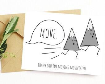 Mountains Thank You Etsy
