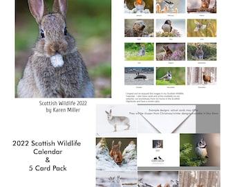 2022 Calendar/Card Pack: Scottish Wildlife