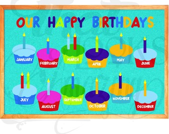 Classroom Birthday Chart Etsy