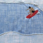 In Da Tube Textile Surf Art by Chris Viverito