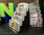 Nintendo 64 Cartridge Display Stands
