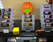 Super Nintendo Cartridge Display Stands