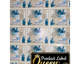 Matte (Waterproof) Square /Rectangle Product Labels, Stickers