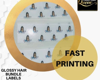 Hair Bundle Wrap Label, Stickers, Hair Wrap Packaging