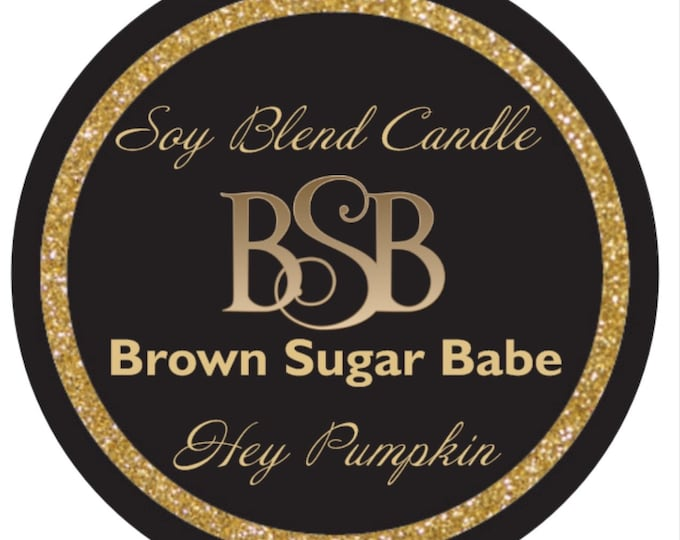 Matte Candle Labels