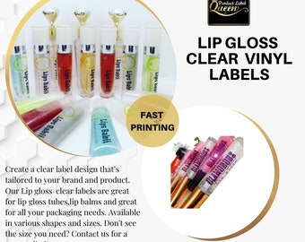 Lip Gloss Labels|Stickers for Roller Tubes