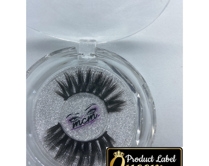 Clear Eye Lash  Case Labels|Stickers