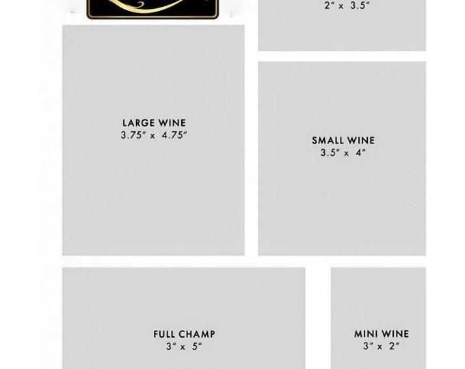 Wine Labels Matte (Waterproof)