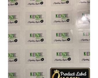Polyester Clear Lip Gloss Labels|Stickers