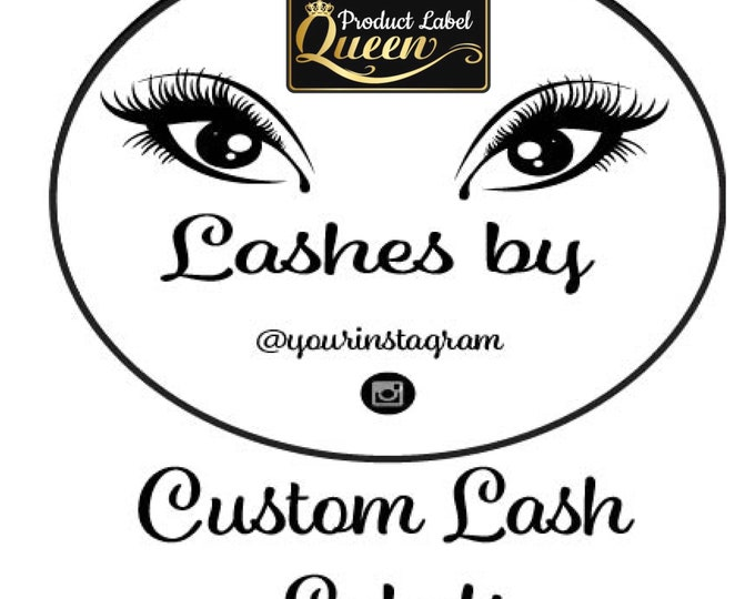 Custom Eye Lash Case Label, Clear