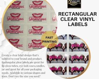 Rectangular Clear Labels ,Stickers
