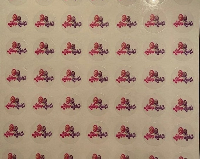 Clear eyelash labels (25 mm) Stickers