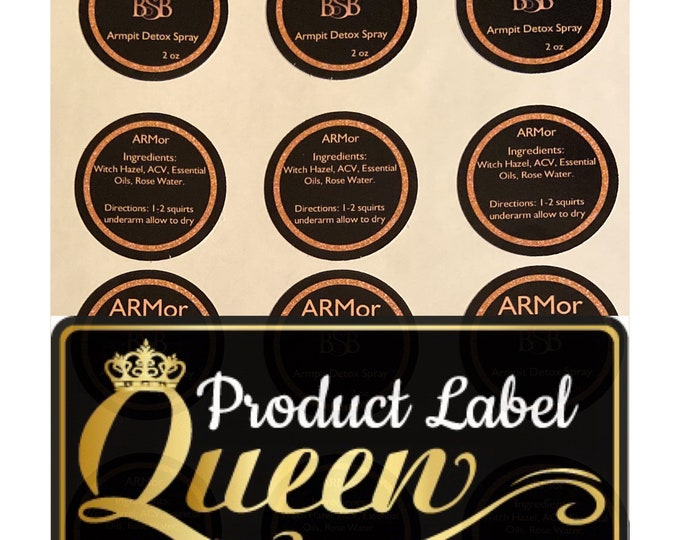 Matte Product Labels (Waterproof) 100 Labels, Stickers (Circle)