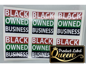 Black Owned Business Custom Sticker-Labels (100)