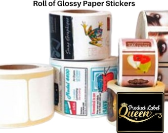 Roll of Glossy Stickers (100 Stickers) Square