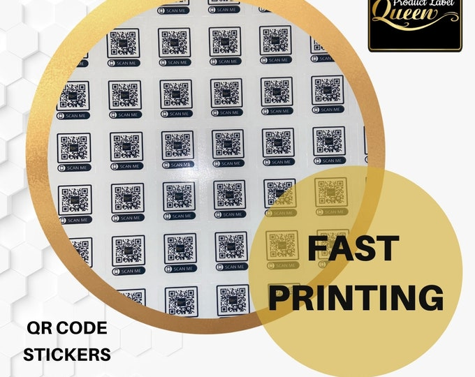 Custom QR code Stickers(100)
