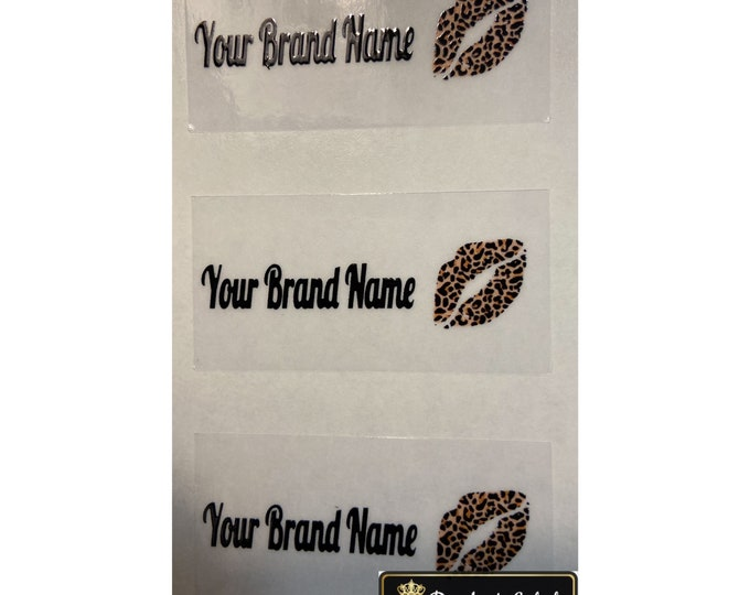 Leopard Lip Gloss Labels|Stickers