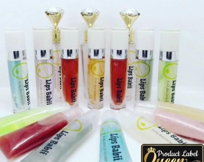 Chapstick Tube, Lip Balm Labels, Clear, Matte,Glossy