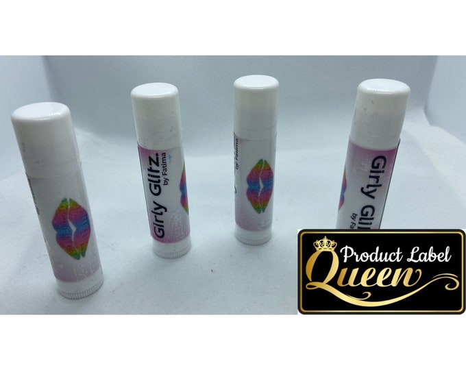 Clear Chapstick Tube Labels