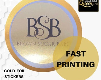 Gold Candle  Foil Stickers (100 Circle)