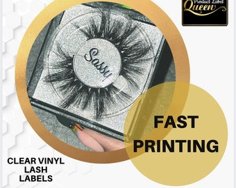 Clear Eye Lash  Case Labels|Stickers