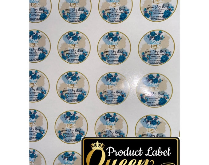 Matte Circle Vinyl Waterproof Product Labels