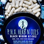 Black Widow, B12, B7, Biotin, Irish Seamoss, Hair, Skin, Nails, Organic Bamboo Extract, Collagen, Bladderwrack, Moringa, Dr Sebi Inspired