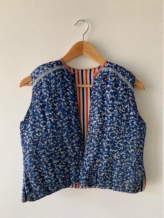 ANTIQUE AMERICANA 1950s reversible handmade vest