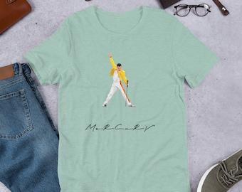 ce19c9537ff69 Freddie Mercury Tshirt Vintage Queen shirt - queen band shirt Short-Sleeve  Unisex T-Shirt