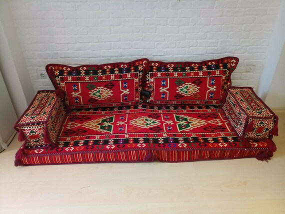 Superb Bohemian Ottoman Majlis Sofa Floor Cushions Floor Sofa Bed Artisan Room Decor 1 Gamerscity Chair Design For Home Gamerscityorg