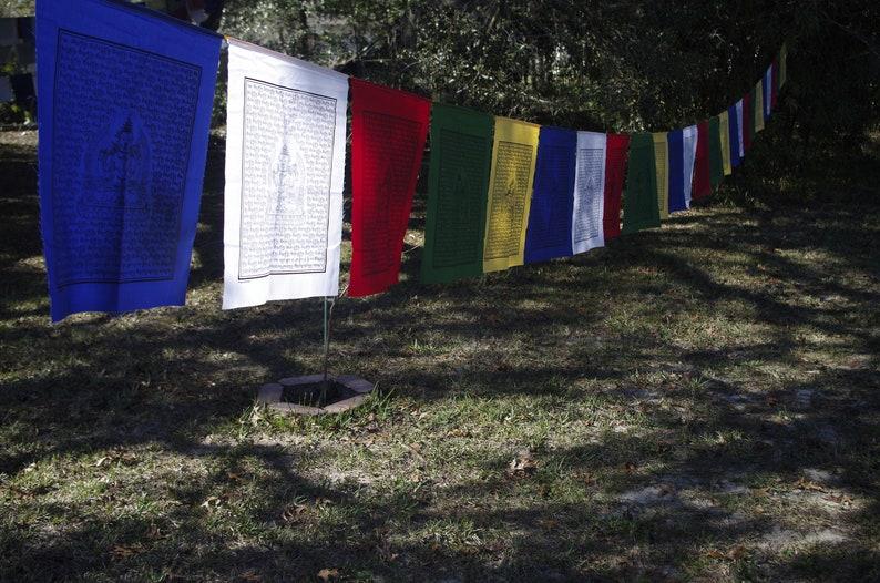 Chenrezig Compassion Tibetan Prayer Flags Set