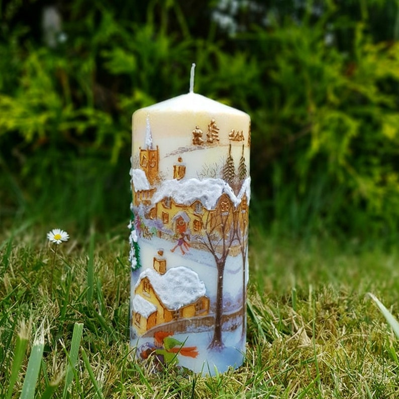 Christmas Candle Large pillar candle Christmas Gift image 7