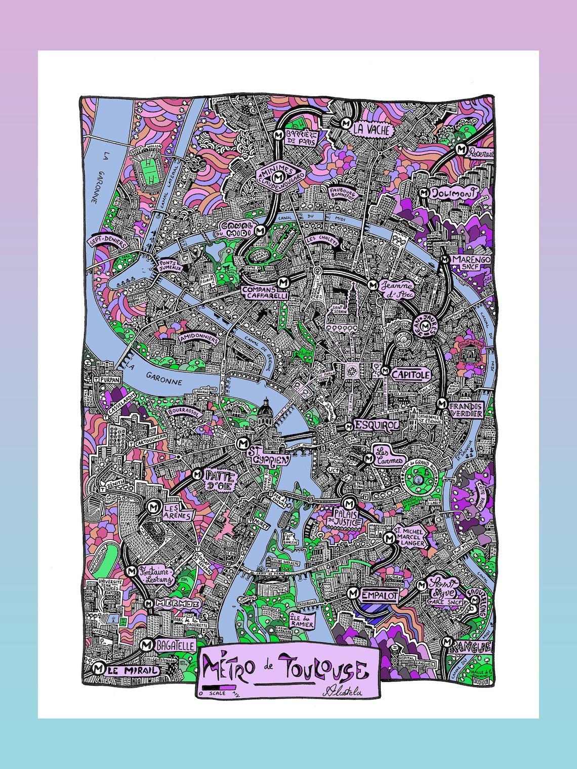 Métro de Toulouse  Affiche Image 0