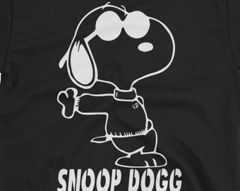 dcedfdbcd Snoop Dogg Snoopy T-Shirt Hip Hop Snoopy Peanuts Snoopy Dog Shirt