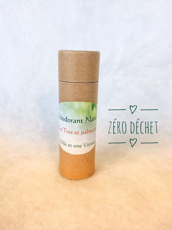 100% natural tea tree, palmarosa deodorant  Toxin free aluminum, paraben  free  Recyclable, biodegradable and eco-friendly packaging