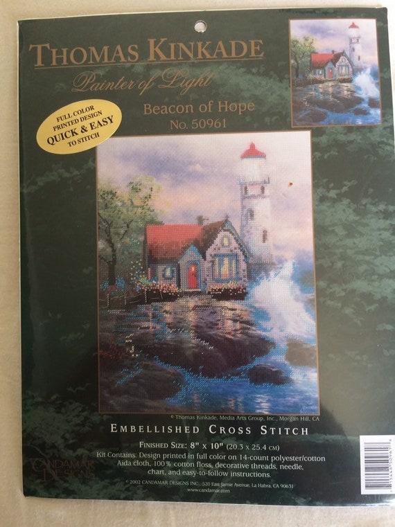 "/""Victorian Christmas II/"" Thomas Kinkade Embellished Cross Stitch Kit"
