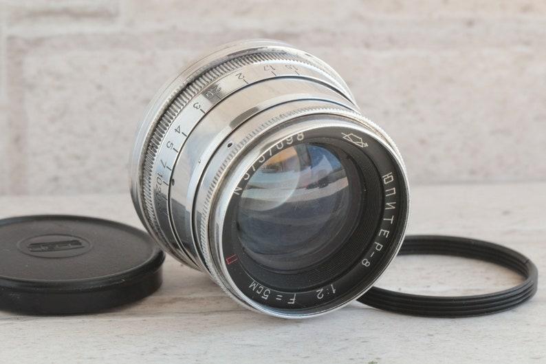 Lens JUPITER 8, 2/50 mm RF m39, Red (P) , leica, FED, Zeiss, Russian lens,  Sonnar, Vintage lens, Leica camera, Rangefinder