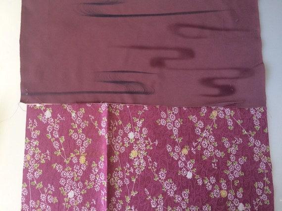 Vintage Kimono fabric silk 10 pc Bundle made in Japan Pre-Cut Assort scraps
