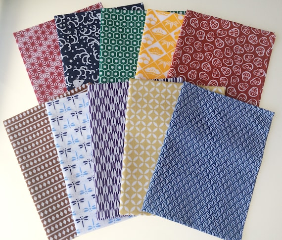Tenugui towel 10 pcs LOT small pattern set cotton 100/% Made in Japan