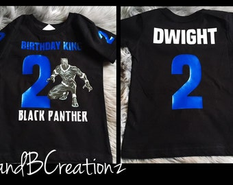 7d8a225a2 Black Panther Birthday Shirt - Black Panther Birthday