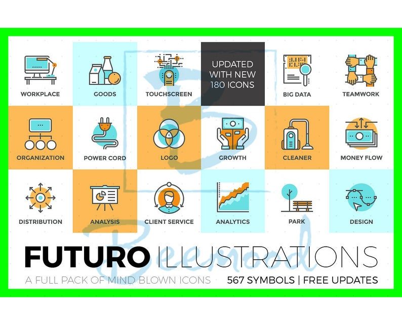 567 Unique Style Icons By Futuro Illustrations Collection Ai Etsy